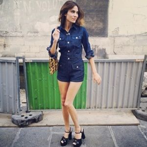 NWT Alexa Chung for AG Loretta denim romper